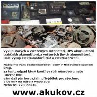Vykoupíme veškeré staré akumulátory,elektromotory