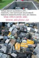 Vykoupíme veškeré staré akumulátory,Ostrava