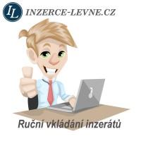 Profesionální ruční vkládání ČR a SR inzerce