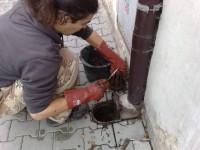 Instalatérské práce, čištění odpadu