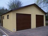 Montované garáže s omítkou