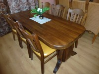 Rustikální stůl a židle top stav
